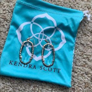 Kendra Scott Ella Clear Rose gold earrings